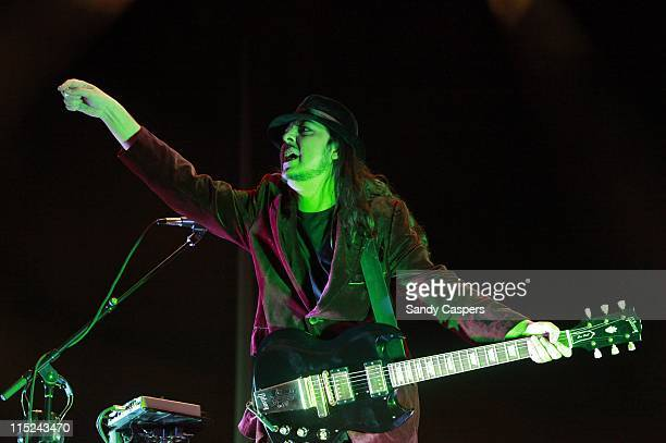 Daron Malakian of System Of A Down performs on stage during the second day of Rock Im Park Festival at Zeppelinfeld on June 4 2011 in Nuremberg...