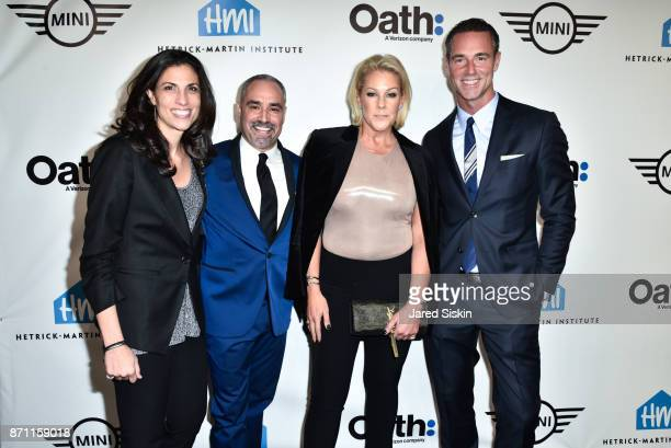 """Darra Gordon, Thomas Krever, Lisa Marie Ringus and Rod Smith attend Hetrick-Martin Institute's 2017 """"Pride Is"""" Emery Awards at Cipriani Wall Street..."""