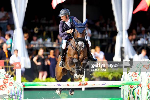 Darragh Kenny riding Balou du Reventon during the Brussels Stephex Masters 2018 Grand Prix ROLEX on September 2 2018 in Brussel Belgium Denis Lynch...