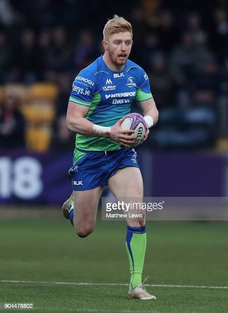 Darragh Leader of Connacht Rugby in action during the European Rugby Challenge Cup match between Worcester Warriors and Connacht Rugby on January 13...