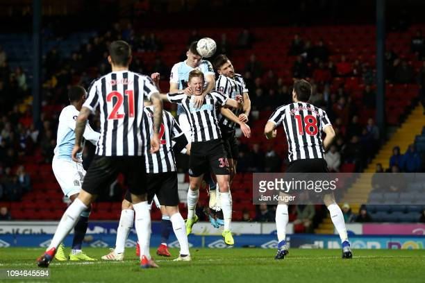 Darragh Lenihan of Blackburn Rovers scores his team's second goal during the FA Cup Third Round Replay match between Blackburn Rovers and Newcastle...