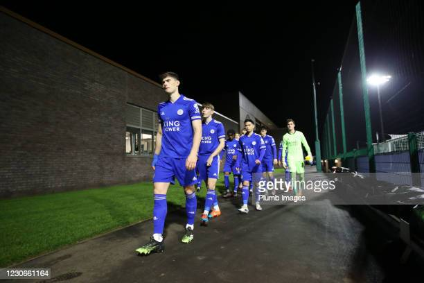 Darragh O'Connor of Leicester City ahead of the Premier League 2 match between Leicester City and Manchester United at Leicester City Training...