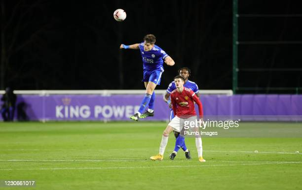 Darragh O'Connor of Leicester City during the Premier League 2 match between Leicester City and Manchester United at Leicester City Training Ground,...