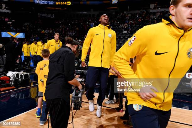 Darrell Arthur of the Denver Nuggets enters the arena prior to the game against the Utah Jazz on January 5 2018 at the Pepsi Center in Denver...