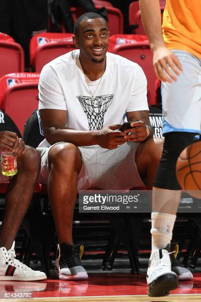 Darrell Arthur of the Denver Nuggets is seen at the game between the Denver Nuggets and the Minnesota Timberwolves during the 2017 Summer League on...