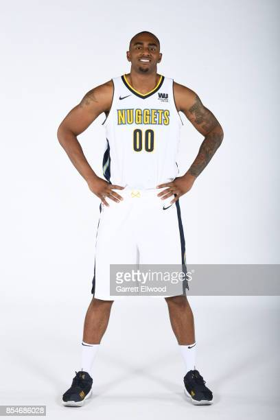 Darrell Arthur of the Denver Nuggets poses for a photo during media day on September 25 2017 at the Pepsi Center in Denver Colorado NOTE TO USER User...