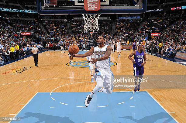 Darrell Arthur of the Denver Nuggets shoots against the Sacramento Kings on November 3 2014 at the Pepsi Center in Denver Colorado NOTE TO USER User...