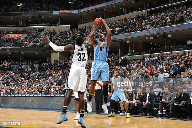 Darrell Arthur of the Denver Nuggets shoots the ball against the Memphis Grizzlies on January 8 2016 at FedExForum in Memphis Tennessee NOTE TO USER...
