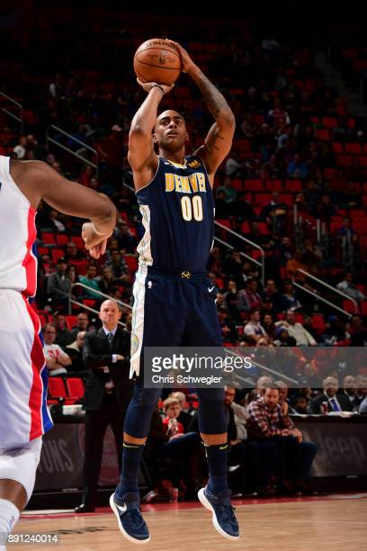 Darrell Arthur of the Denver Nuggets shoots the ball against the Detroit Pistons on December 12 2017 at Little Caesars Arena in Detroit Michigan NOTE...