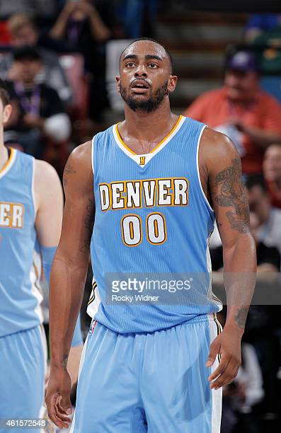 Darrell Arthur of the Denver Nuggets stands on the court during the game against the Sacramento Kings on January 9 2015 at Sleep Train Arena in...