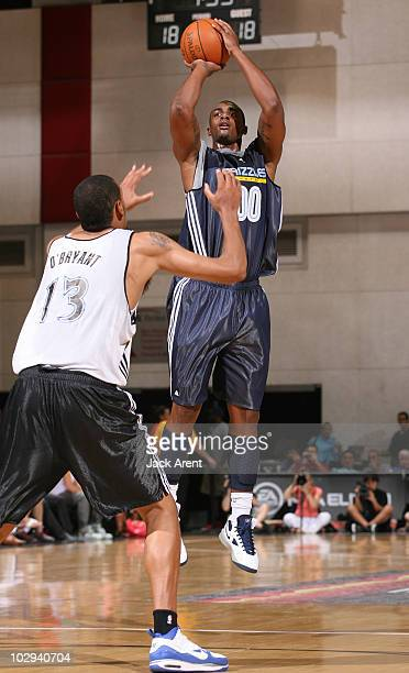 Darrell Arthur of the Memphis Grizzlies shoots the ball against the Minnesota Timberwolves during NBA Summer League on July 16 2010 at Cox Pavilion...