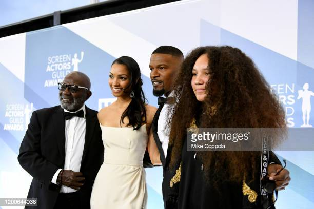 Darrell Bishop Corinne Foxx Jamie Foxx and Annalise Bishop attend the 26th Annual Screen Actors Guild Awards at The Shrine Auditorium on January 19...