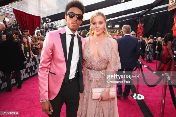 Darrell BrittGibson and Abbie Cornish attend the 90th Annual Academy Awards at Hollywood Highland Center on March 4 2018 in Hollywood California