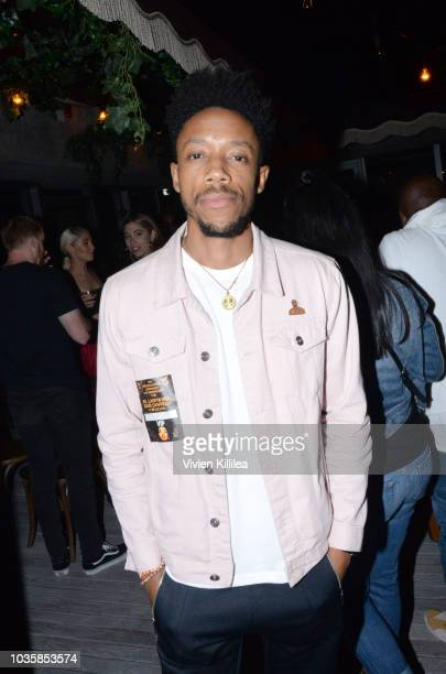 Darrell BrittGibson attends Dave Chappelle Private After Party At The hwood Group's Special Preview Of Harriet's Rooftop Lounge at the Upcoming 1...