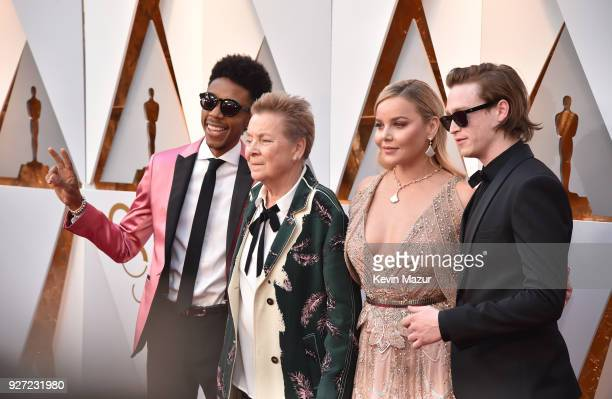 Darrell BrittGibson Sandy Martin Abbie Cornish and Caleb Landry Jones attends the 90th Annual Academy Awards at Hollywood Highland Center on March 4...