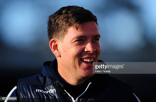 Darrell Clarke Manager of Bristol Rovers during the Emirates FA Cup Second Round match between Bristol Rovers and Barrow FC at the Memorial Stadium...