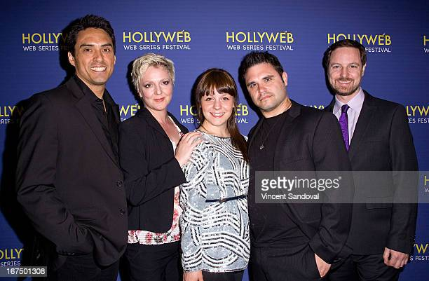Darrell Dennis Katya Gardner Caitlynne Medreck Matthew Carvery and Jonathan Robbins attend the 2nd annual HollyWeb Festival at Avalon on April 7 2013...