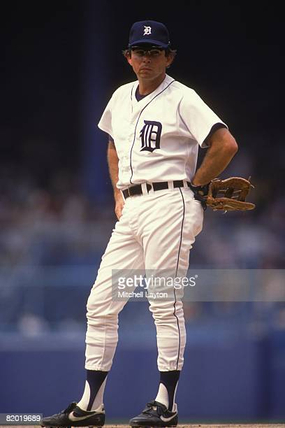 Darrell Evans of the Detroit Tigers during a baseball game on June 1 1988 at Tigers Stadium in Detroit Michigan