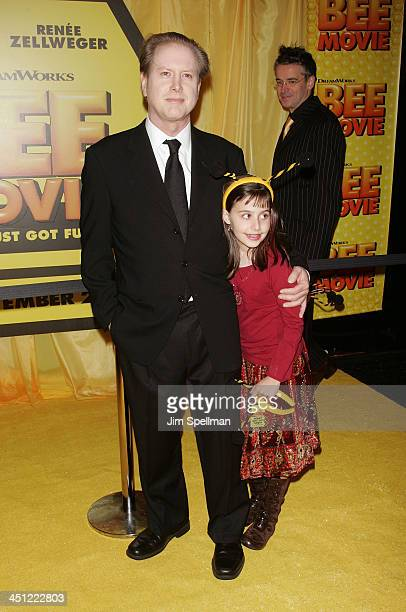 Darrell Hammond and Mia Hammond arrives at the Bee Movie New York City Premiere at Loewa Lincoln Square 13 on October 25, 2007 in New York City.