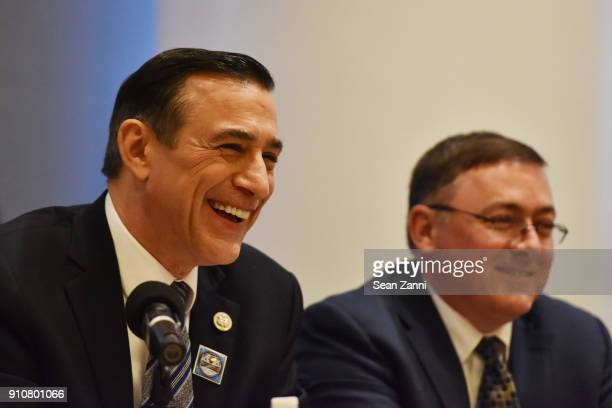 Darrell Issa participates inthe 60th Annual GRAMMY Awards House Judiciary Hearing at Fordham Law School on January 26 2018 in New York City