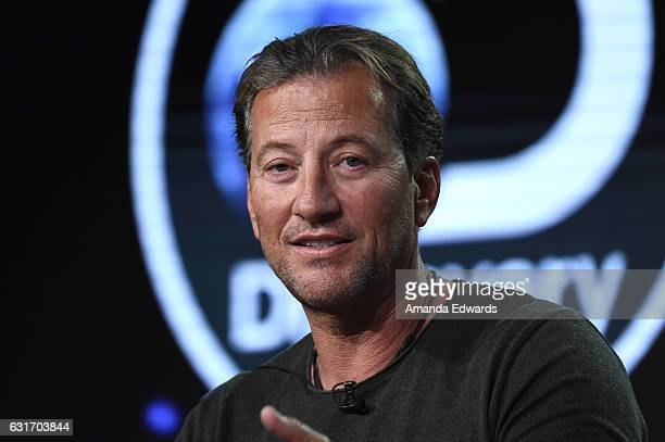 Darrell Miklos speaks onstage during the 'Cooper's Treasure' panel at Discovery Communications Winter TCA Event on January 14 2017 in Pasadena...