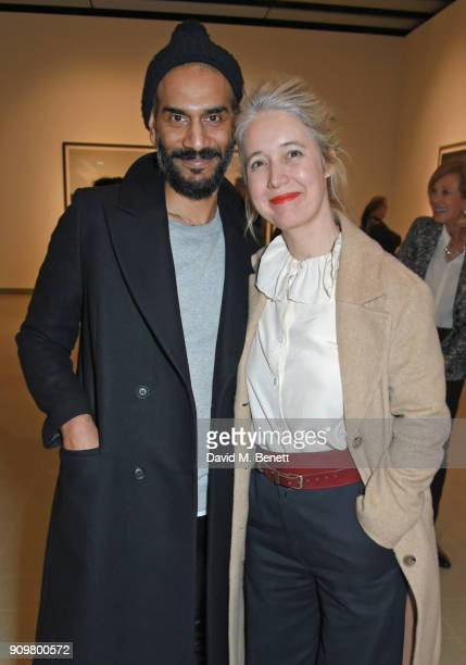 Darrell Vydelingum and Justine Simons Deputy Mayor for Culture and the Creative Industries attend the reopening of The Hayward Gallery featuring the...