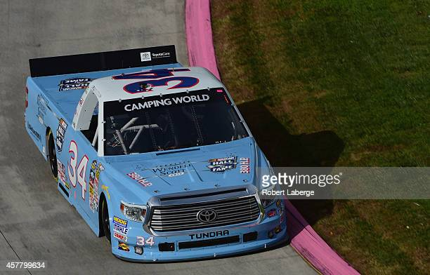 Darrell Wallace, Jr., driver of the 2015 NASCAR Hall of Fame Inductee Wendell Scott Toyota, practices for the NASCAR Camping World Truck Series...