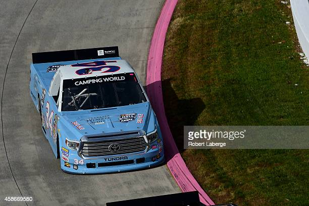 Darrell Wallace, Jr., driver of the 2015 NASCAR Hall of Fame Inductee Wendell Scott Toyota drives during practice for the NASCAR Camping World Truck...