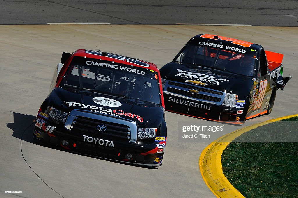 Darrell Wallace Jr Driver Of The Toyota Care Toyota Leads Nelson Piquet Jr  Driver Of The