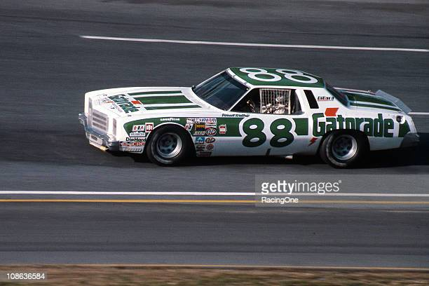 Darrell Waltrip at the wheel of his favorite chassis while driving for DiGard Racing a 1977 Chevrolet Monte Carlo he nicknamed ÒBerthaÓ From 1977...
