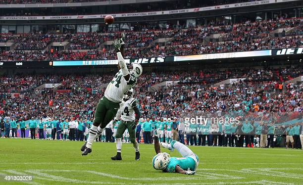 Darrelle Revis at the annual NFL International fixture as the New York Jets compete against the Miami Dolphins at Wembley Stadium on October 4 2015...