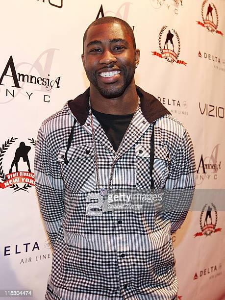 Darrelle Revis attends the 2nd annual Celebrity Draft Classic at Amnesia NYC on April 20, 2010 in New York City.
