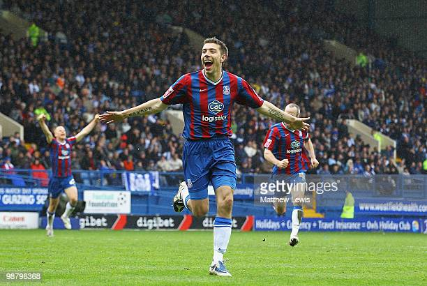 Darren Ambrose of Crystal Palace celebrates his goal during the Coca-Cola Championship match between Sheffield Wednesday and Crystal Palace at...