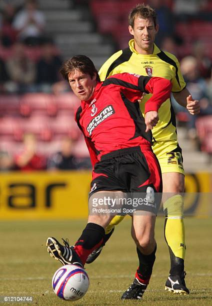 Darren Anderton of Bournemouth in action during the AFC Bournemouth v Rotherham United CocaCola Football League Two match at King's Park in...
