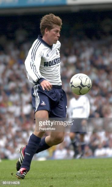 Darren Anderton of Tottenham Hostpur in action during the FA Barclaycard Premiership match between Tottenham Hotspur and Aston Villa at White Hart...