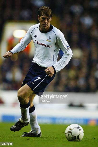 Darren Anderton of Tottenham Hotspur in action during the FA Barclaycard Premiership match between Tottenham Hotspur and Middlesbrough on October 26...