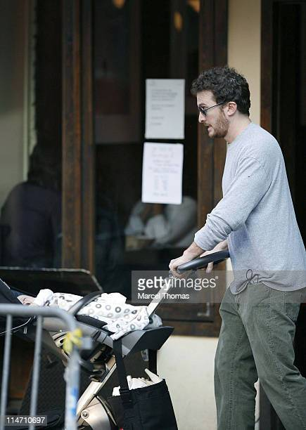 Darren Aronofsky and Henry Chance Aronofsky during Rachel Weisz Sighting Outside 12 Chairs Restaurant in New York City at SOHO in New York City New...
