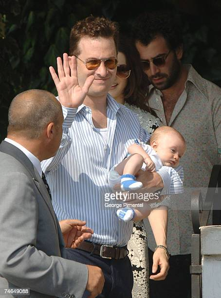 Darren Aronofsky and Henry Chance Aronofsky in Venice Italy