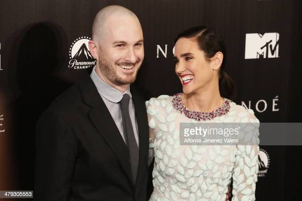 Darren Aronofsky and Jennifer Connelly attend 'Noe' Madrid Premiere at Palafox Cinema on March 17 2014 in Madrid Spain