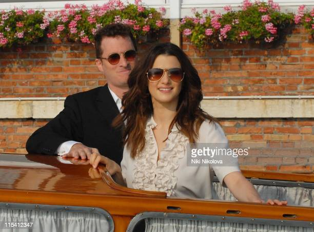 Darren Aronofsky and Rachel Weisz during The 63rd International Venice Film Festival 'The Fountain' Boat Arrivals in Lido Italy