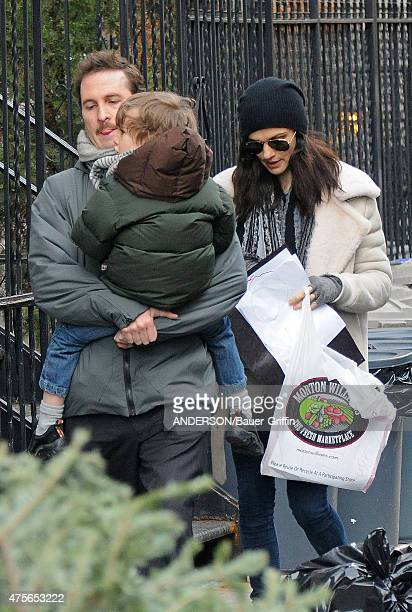 Darren Aronofsky, Rachel Weisz with their son Henry Chance are seen on January 05, 2011 in New York City.