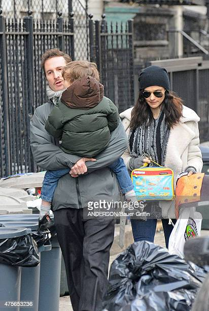 Darren Aronofsky Rachel Weisz with their son Henry Chance are seen on January 05 2011 in New York City