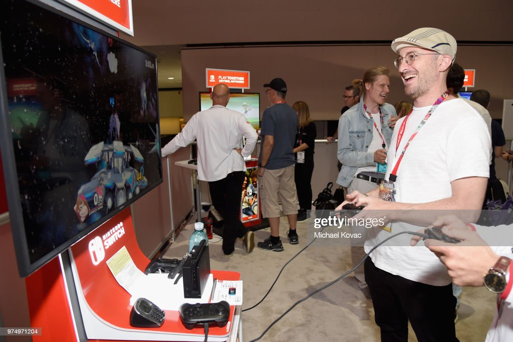 Darren Aronofsky visits the Nintendo booth during the 2018 E3 Gaming Convention at Los Angeles Convention Center on June 14, 2018 in Los Angeles, California.