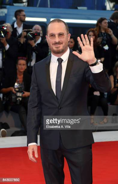Darren Aronofsky wearing a JaegerLeCoultre watch walks the red carpet ahead of the 'mother' screening during the 74th Venice Film Festival at Sala...