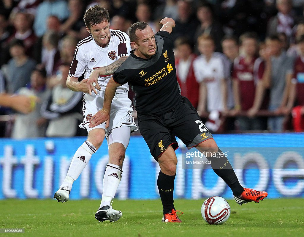 Hearts v Liverpool - UEFA Europa League Play-off Round : News Photo