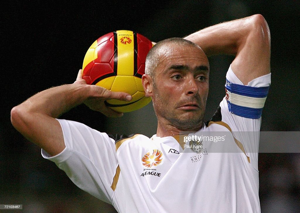 Darren Bazeley of the Knights throws the ball during the round seven Hyundai A-League match between Perth Glory and the New Zealand Knights at Members Equity Stadium on October 6, 2006 in Perth, Australia.