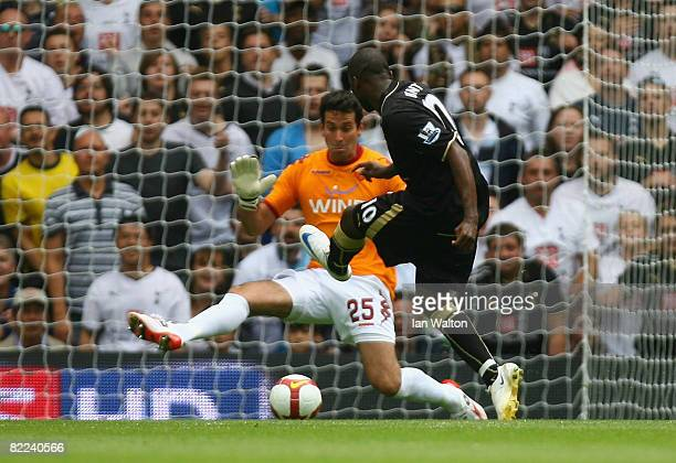 Darren Bent of Tottenham Hotspur scores the 2nd goal during the Pre Season Friendly match between Tottenham Hotspur and AS Roma at White Hart Lane on...