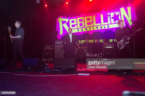Darren Birch Peter Coyne and Steve Crittall of The Godfathers perform at Rebellion Festival at Winter Gardens on August 4 2017 in Blackpool England