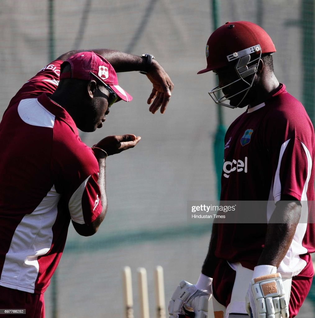 Darren Bravo of West Indies practices at 3rd One day match of Airtel ODI series held at Sardar Patel Gujarat Stadium on Sunday in Ahmedabad.