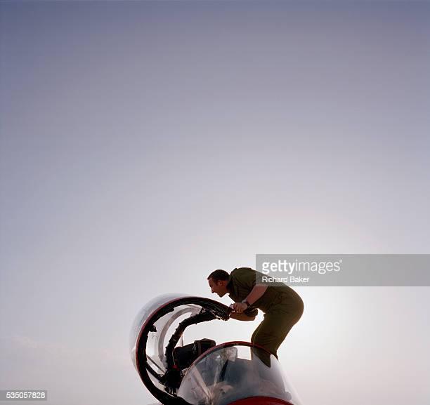 Darren Budziszewski is a Junior Technician engineer in the elite 'Red Arrows' Britain's prestigious Royal Air Force aerobatic team He is seen...